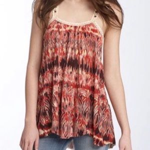 Free People Crochet Shell Bead Tank